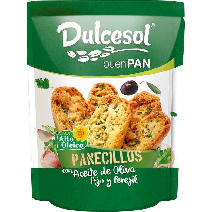 Dulcesol toastjes  Panecillos Aceite de Ovia Ajo Persil 160gr zakje (160g)