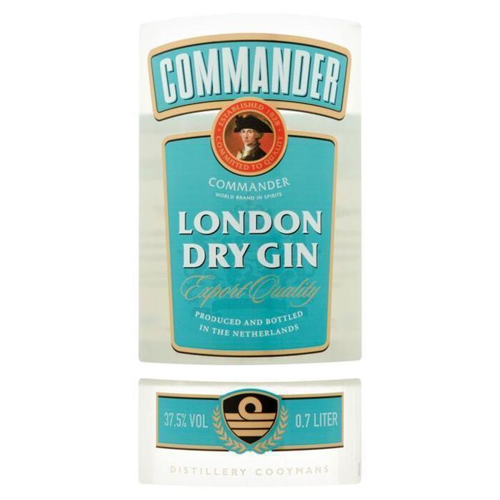 COMMANDER LONDON DRY GIN 0,7L (rol, 70 × 0.7L)