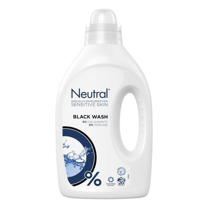 Neutral Wasmiddel Zwart Parfumvrij 1L (1L)