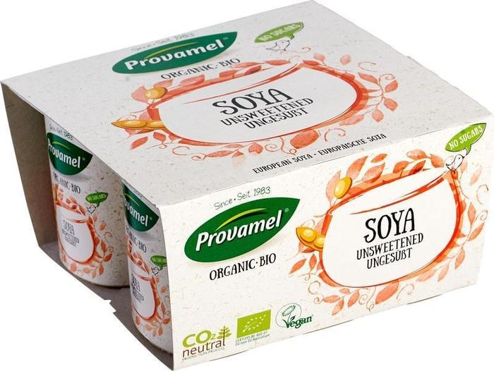 Plantaardige variatie op yoghurt naturel zonder suikers 4-packs (500g)