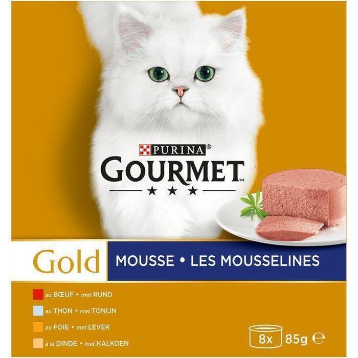 Gourmet Gold Mousse Rund Tonijn (8 × 85g)