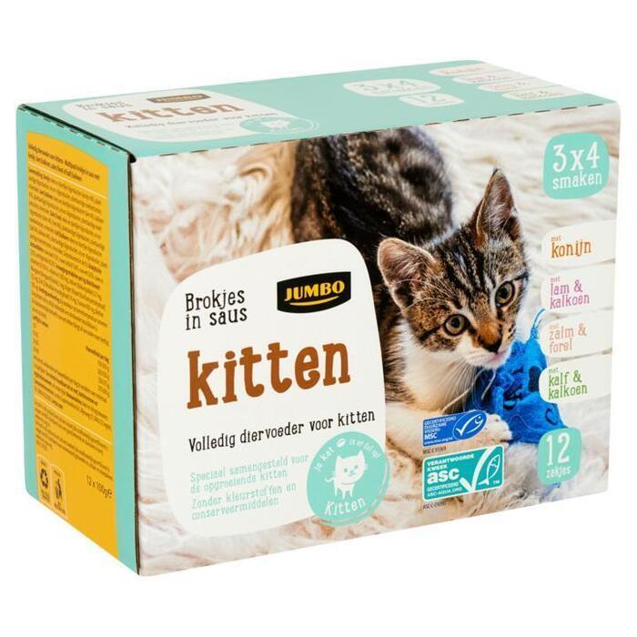 Jumbo Brokjes in Saus Kitten 12 x 100g (12 × 100g)
