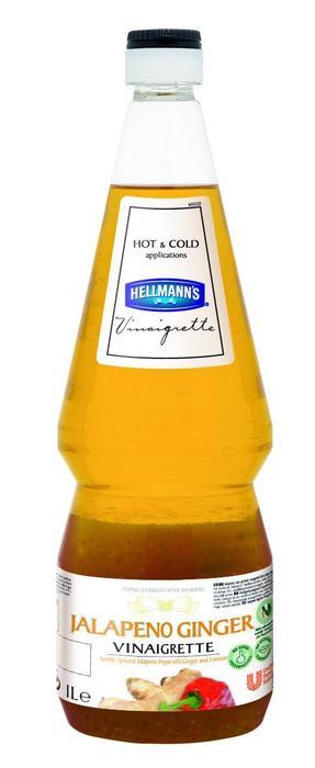 HELLMANN'S VINAIGRETTE JALAPENO GEMBER (fles, 6 × 1L)