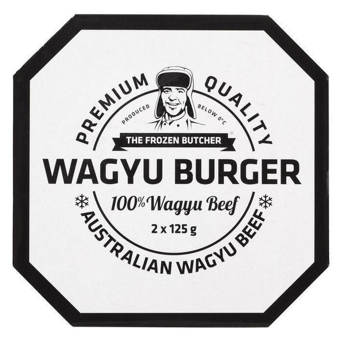 The Frozen Butcher Wagyu burger 100% wagyu beef (2 × 125g)