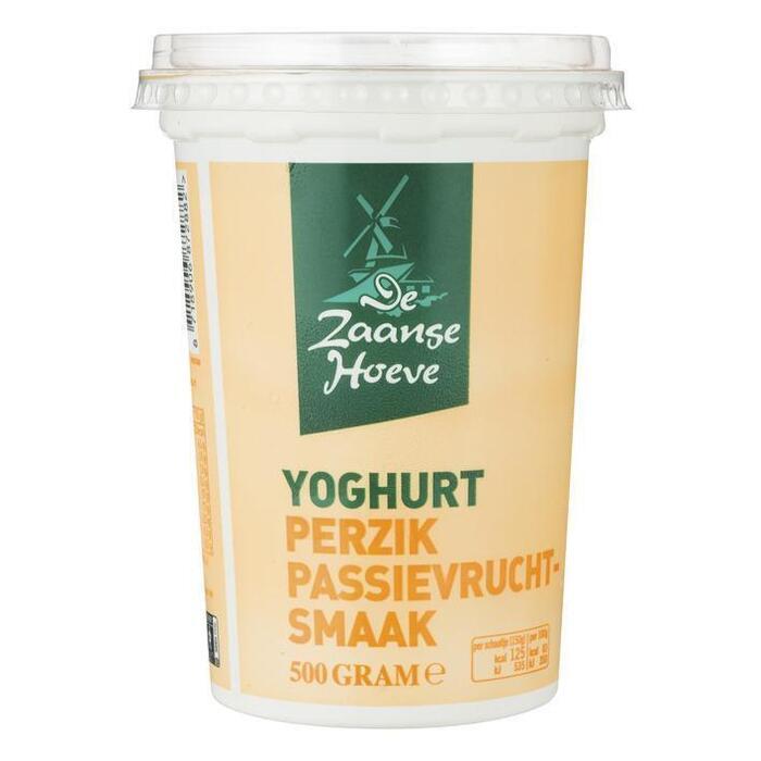 De Zaanse Hoeve Vruchtenyoghurt perzik passievrucht (500g)