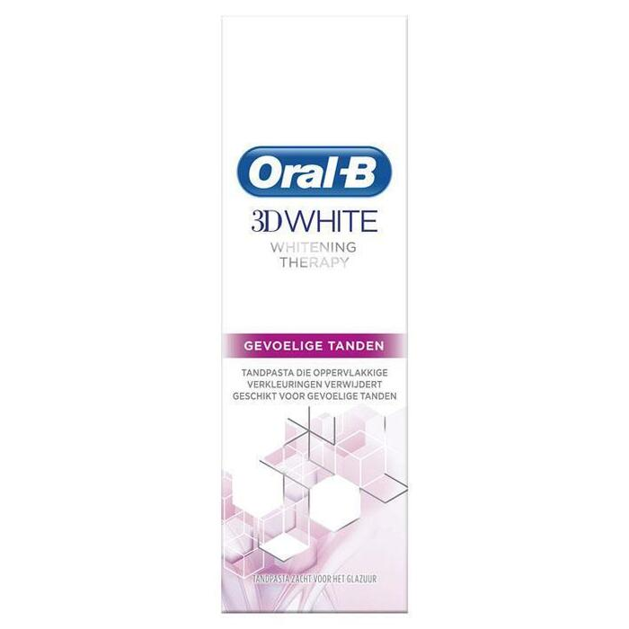 Oral-B 3D White Whitening Therapy Tandpasta 75 ml, Whitening Gevoelige Tanden (75ml)