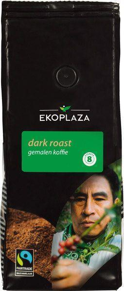 Dark roast gemalen koffie (zak, 250g)