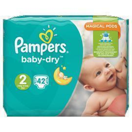 Pampers Baby-dry maat 2 (42 st.)