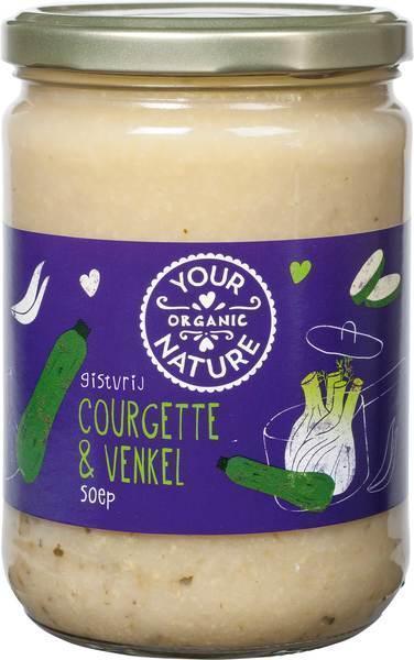 Courgette & venkel soep (0.5L)