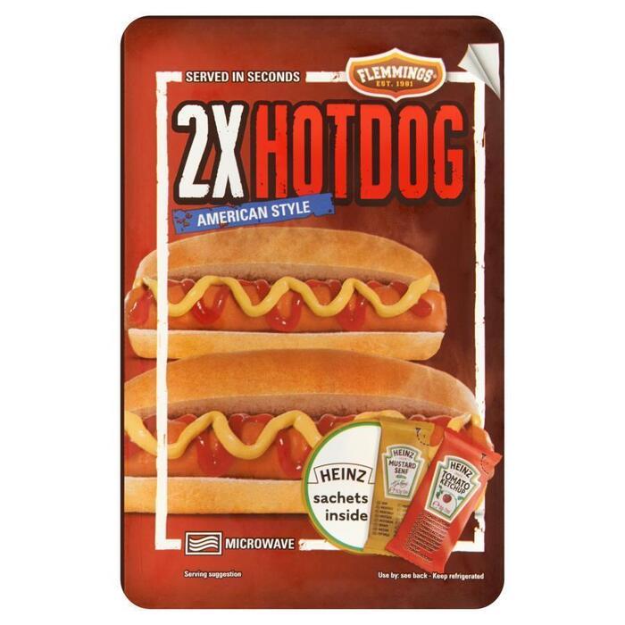 Flemmings 2 Hotdog American Style 218,5 g (Stuk, 2 × 200g)