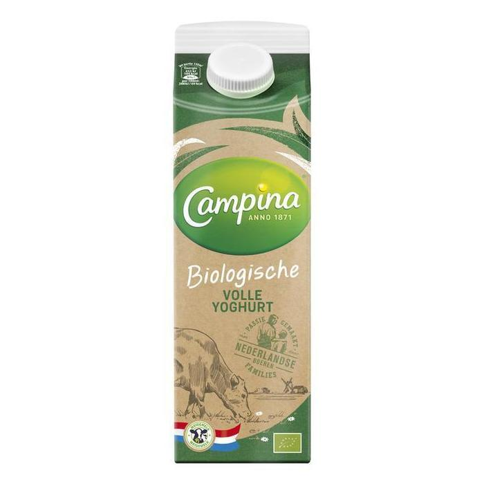 Campina Biologisch Volle Yoghurt 1 L (Stuk, 1L)