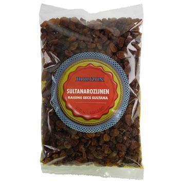 Biologische Sultanarozijnen (zak, 500g)