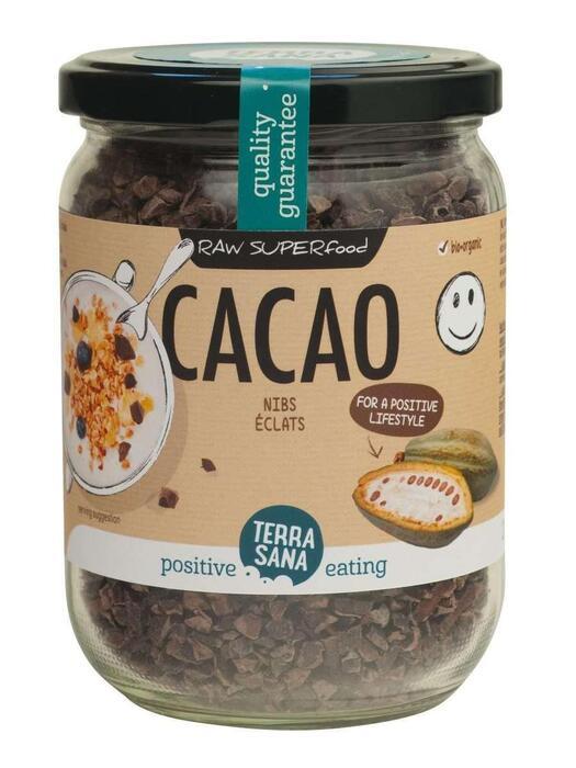 RAW Cacaonibs (in glas) TerraSana 230g (230g)