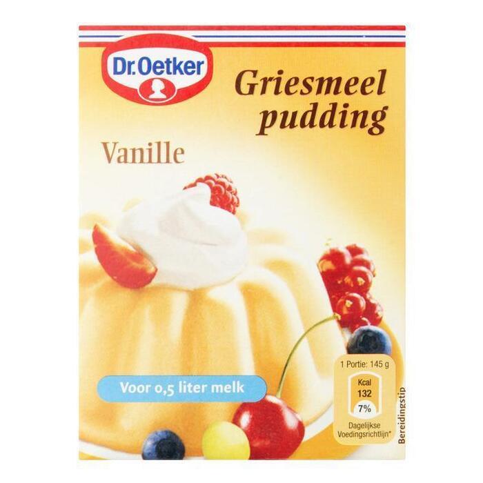 Griesmeelpudding Vanillesmaak (doos, 80g)