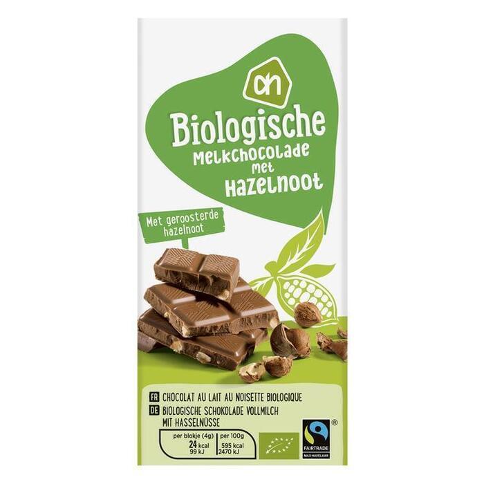 Melkchocolade met hazelnoot (reep, 100g)