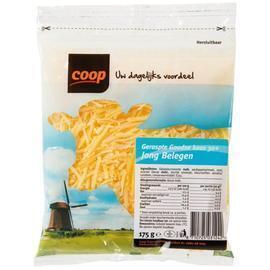 Coop Goudse jong belegen 30+ kaas geraspt (175g)