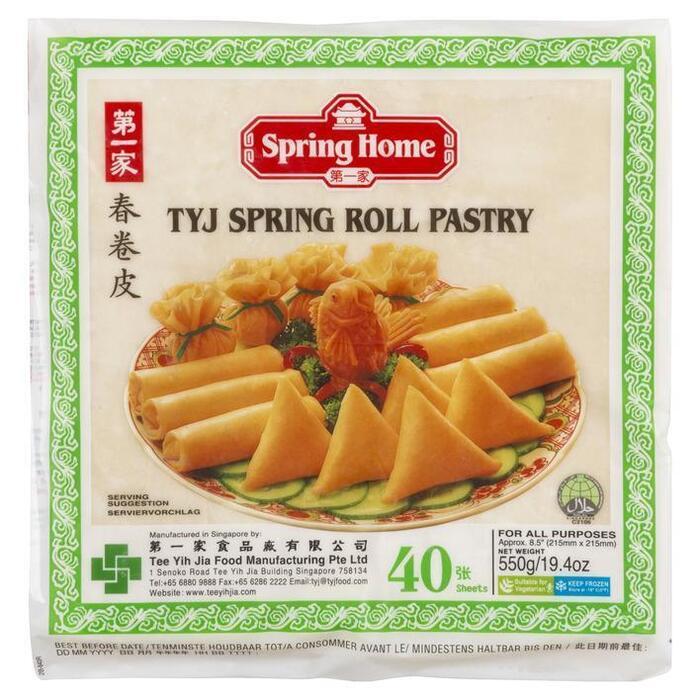 Spring Home TYJ Spring Roll Pastry 40 Blad 500 g (Stuk, 40 × 550g)