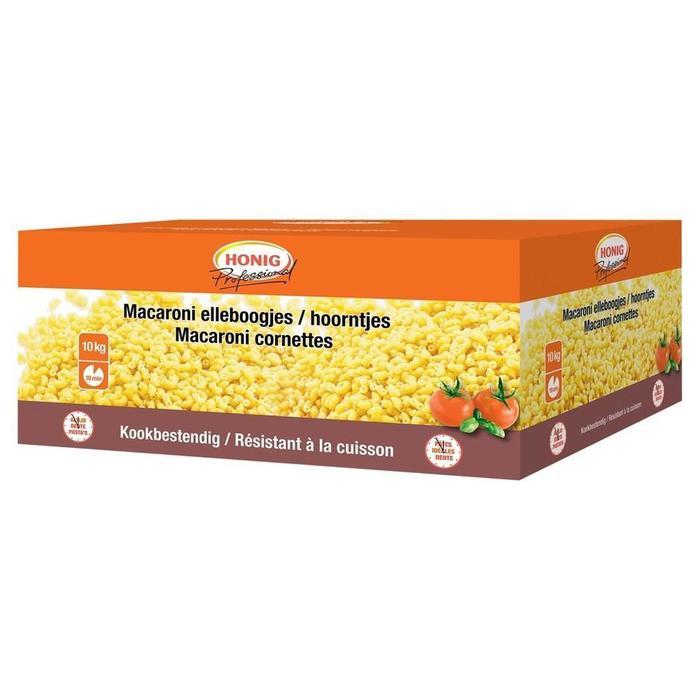 Honig Professional Droge Deegwaar Macaroni Elleboogjes / Hoorntjes 2 x 5 kg Doos (2 × 10kg)