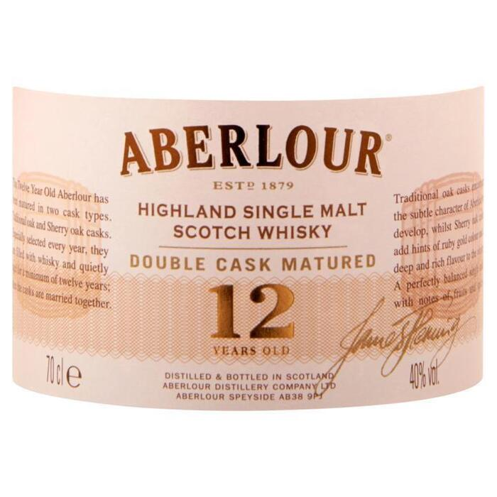Aberlour 12 YO Double Cask Matured 700ml (rol, 70 × 0.7L)