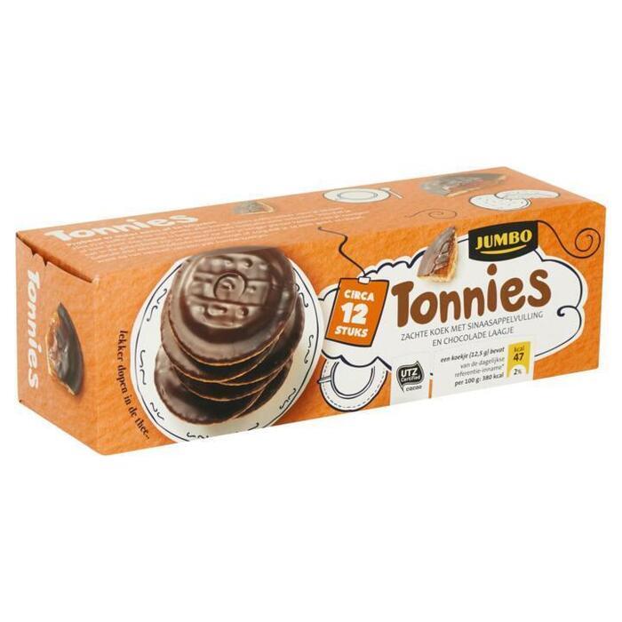 Jumbo Tonnies Zachte Koek met Sinaasappelvulling en Chocolade Laagje Circa 12 Stuks 150g (150g)