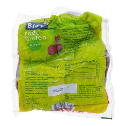 Gekookte Rode Bietjes (zak, 500g)