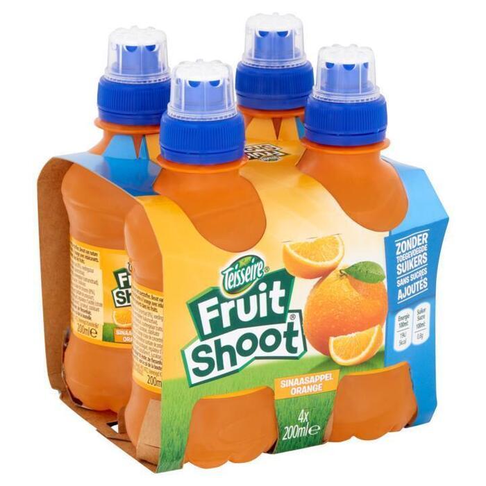 Teisseire Sinaasappel 0% 4-PACK (petfles, 4 × 200ml)