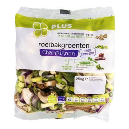 Roerbakgroenten champignons 1-persoons (250g)