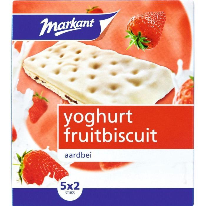 Markant yoghurt fruitbiscuits aardbei 182 gr. (182g)