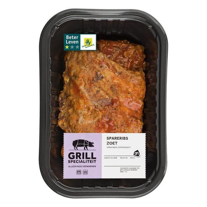 AH Grill & steak spareribs zoet (400g)