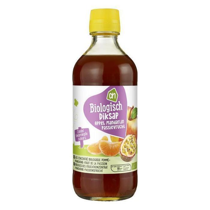 Diksap, Appel-mandarijn-passievrucht (glazen fles, 40cl)