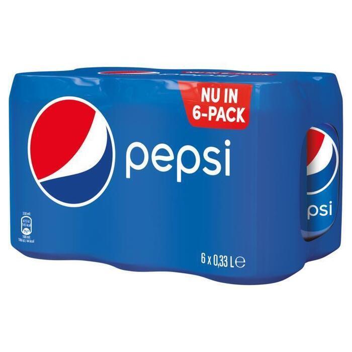Pepsi Cola Blikjes 6-Pack 0,33 Liter (6 × 33cl)