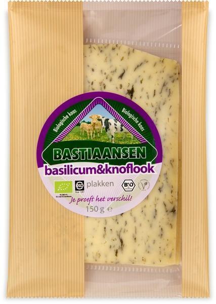 Basilicumknoflook kaas (bak, 150g)