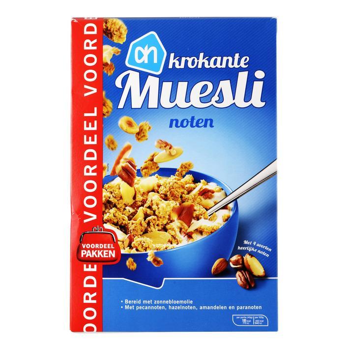 Krokante muesli noten voordeel