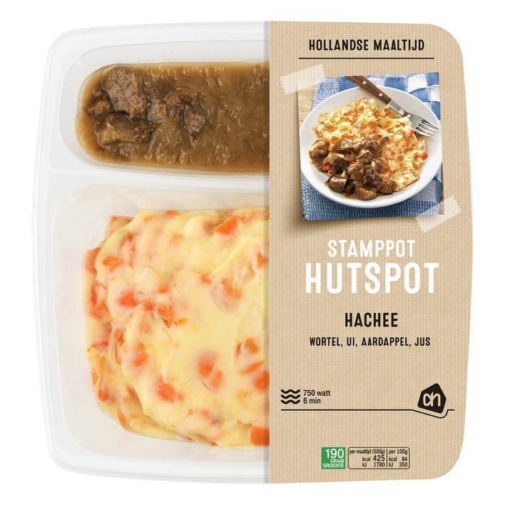 Hollandse stamppot hutspot met hachee