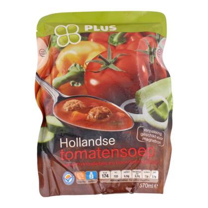 Soep in zak Hollandse tomaat