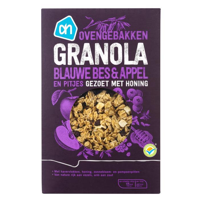 Granola blauwe bes & appel