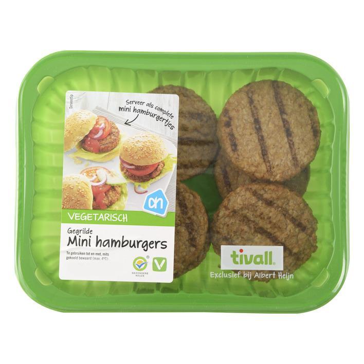 Vegetarische gegrilde mini hamburgers
