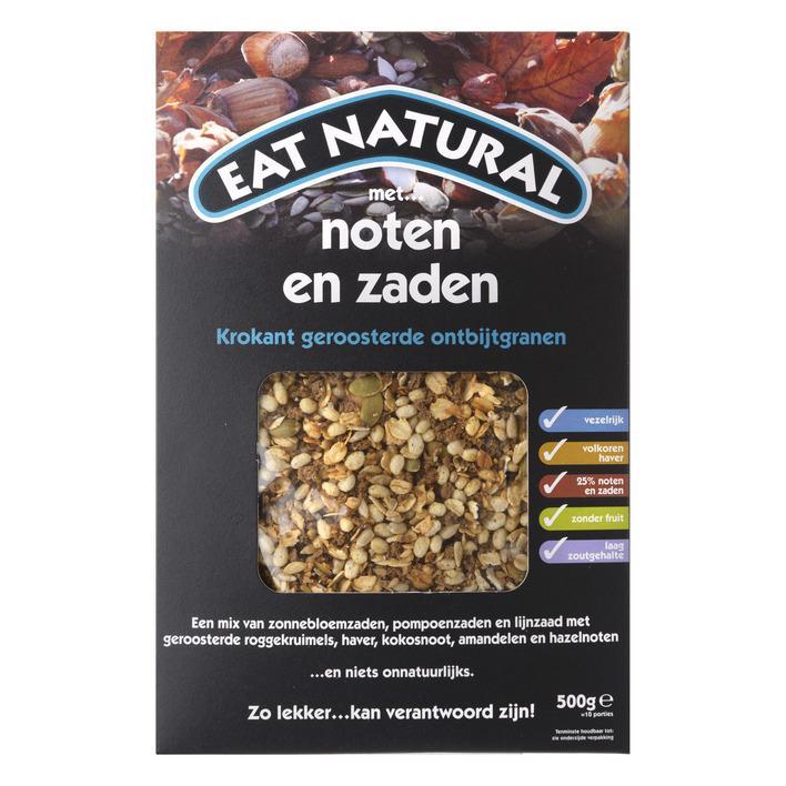 Krokant geroosterde ontbijtgranen met noten en zaden