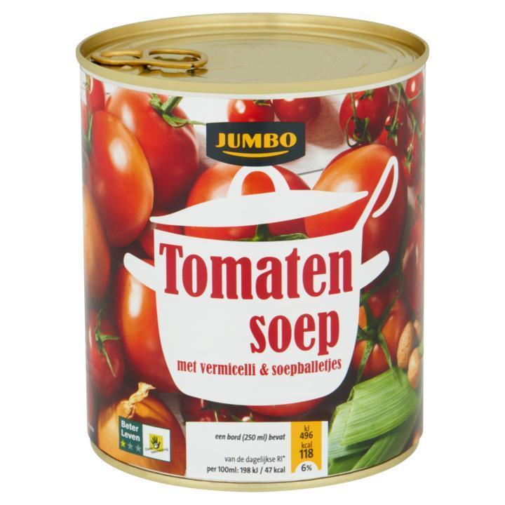 Tomatensoep met Vermicelli & Soepballetjes