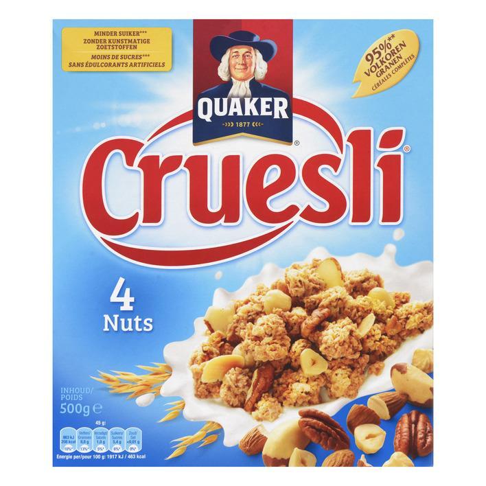 Cruesli 4 Nuts 500Gr