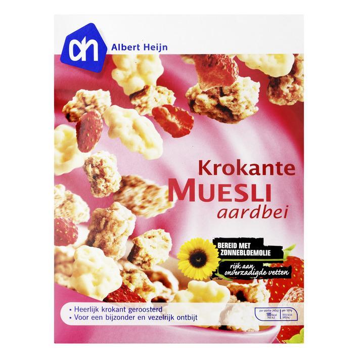 Krokante muesli aardbei/ yoghurt