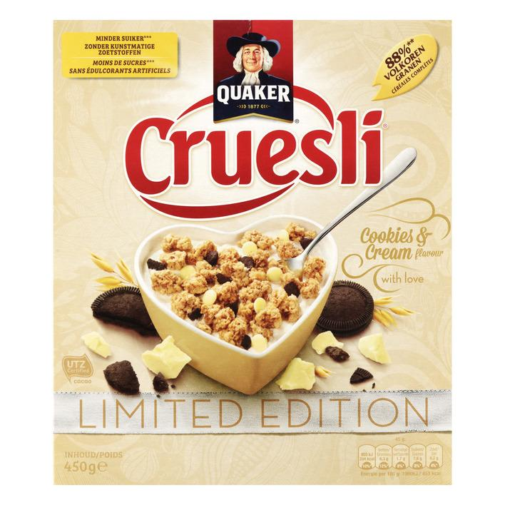 Cruesli cookies & cream limited edition