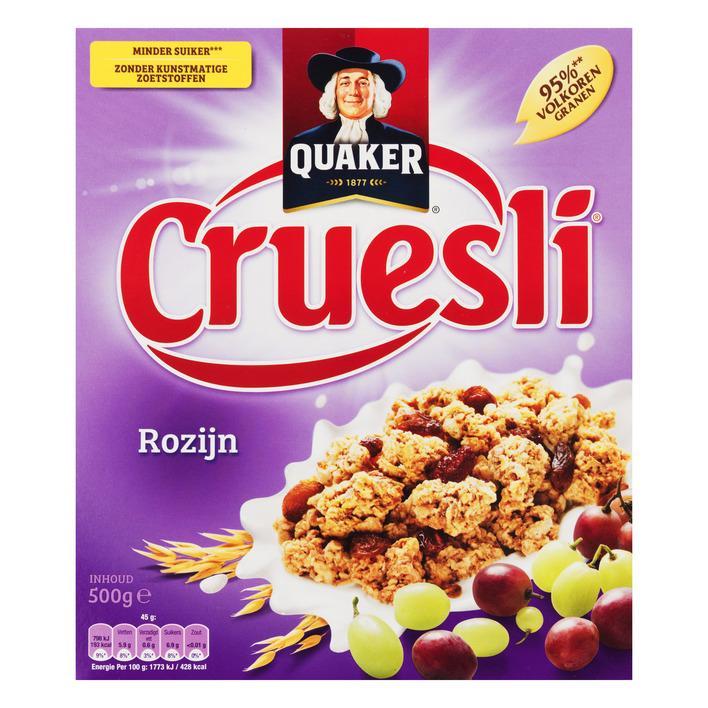 Cruesli Rozijn 500Gr