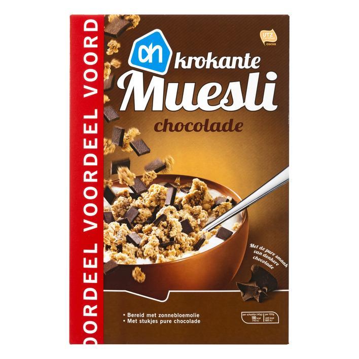 Krokante muesli chocolade voordeel