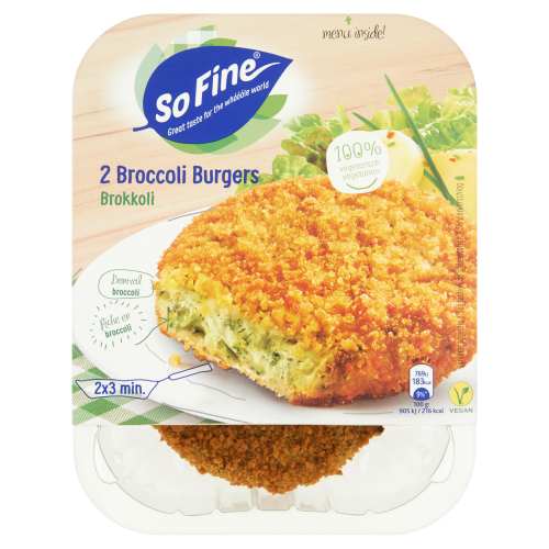 Broccoli burgers (2 stuks)