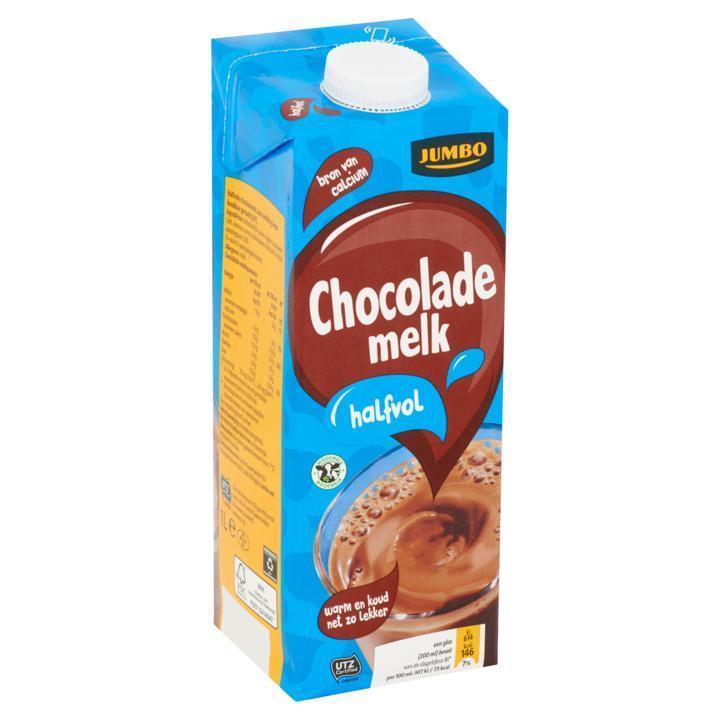 Halfvolle chocolademelk