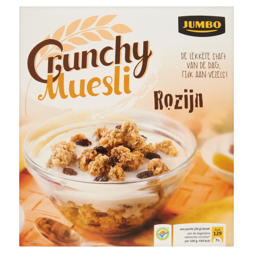 Crunchy Muesli Rozijn 500g