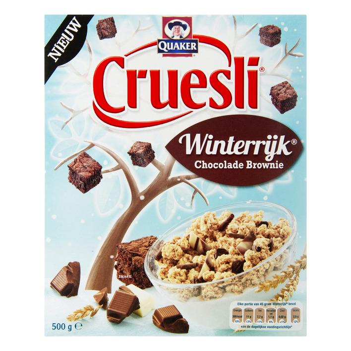 Cruesli winterrijk chocolade brownie