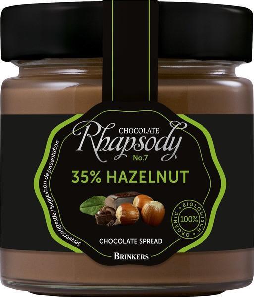 Biologische chocopasta 35% hazelnoot