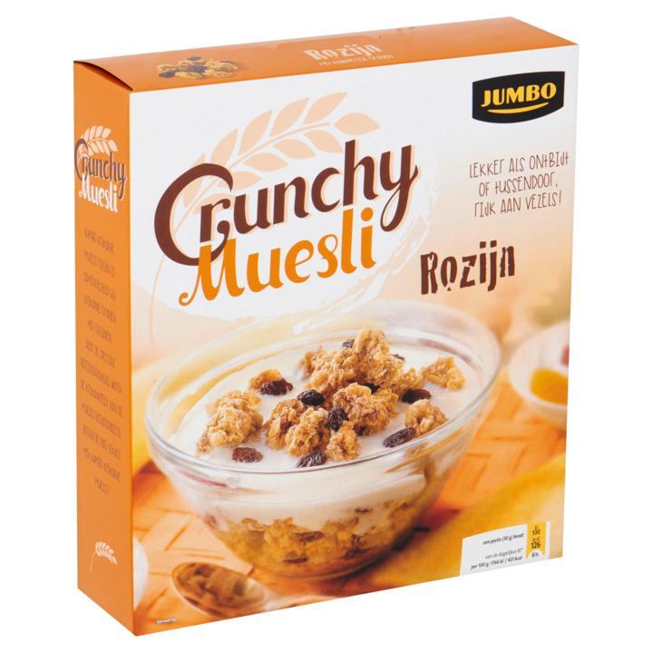 Crunchy muesli rozijn